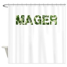Mager, Vintage Camo, Shower Curtain