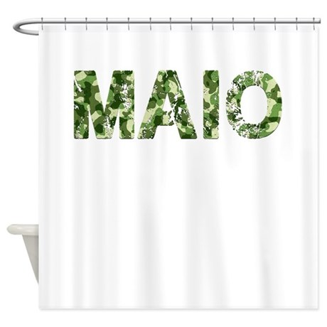 Maio Vintage Camo Shower Curtain By Thecafemarket