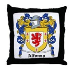 Alfonso Coat of Arms Throw Pillow
