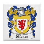 Alfonso Coat of Arms Tile Coaster