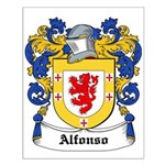 Alfonso Coat of Arms Small Poster