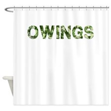 Owings, Vintage Camo, Shower Curtain