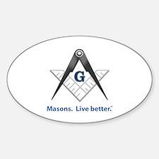Freemason Oval Decal