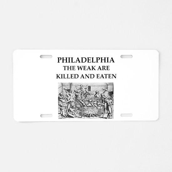 philadelphia Aluminum License Plate