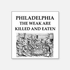 "philadelphia Square Sticker 3"" x 3"""