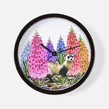 Black Footed Ferret Wall Clock