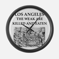 los angeles Large Wall Clock