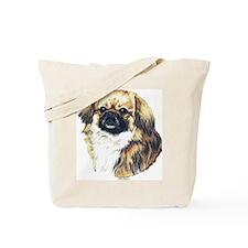 Tibetan Spaniel Dog Portrait Tote Bag