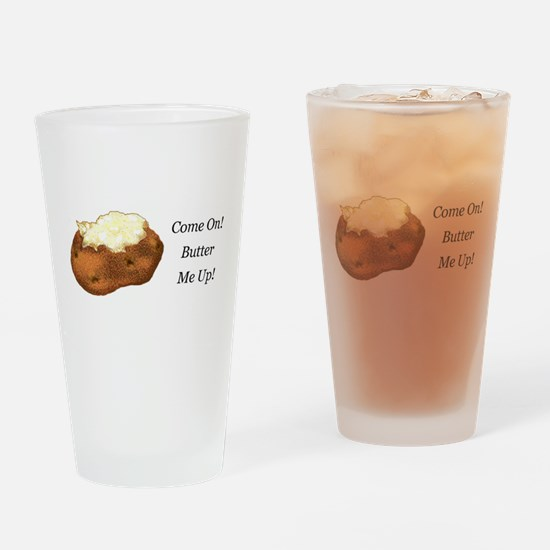 Butter Me Up Drinking Glass