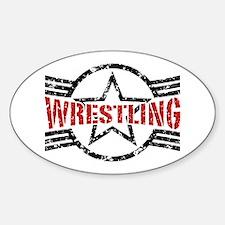 Wrestling Sticker (Oval)