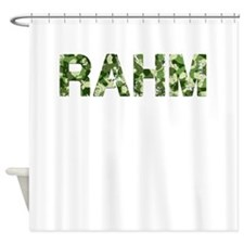 Rahm, Vintage Camo, Shower Curtain