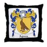Aguas Coat of Arms Throw Pillow