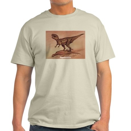 Giganotosaurus Dinosaur Ash Grey T-Shirt