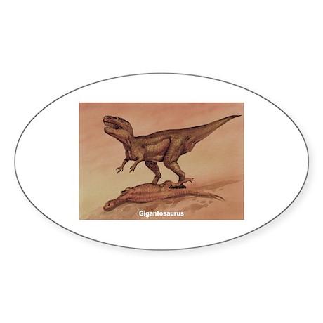 Giganotosaurus Dinosaur Oval Sticker