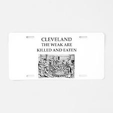 cleveland Aluminum License Plate