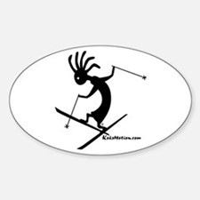 Kokopelli Extreme Skier Oval Decal