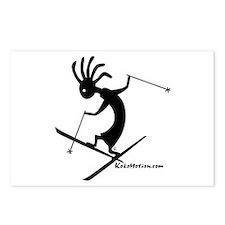 Kokopelli Extreme Skier Postcards (Package of 8)