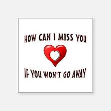 "VALENTINE HEART Square Sticker 3"" x 3"""