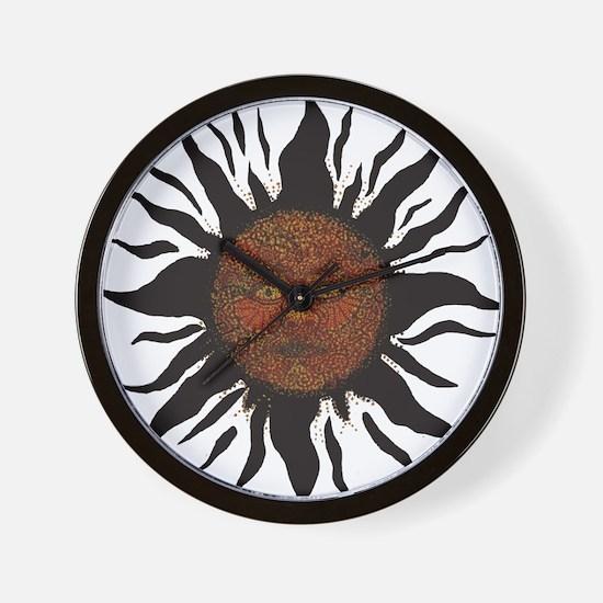Black Sun Wall Clock