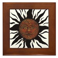 Black Sun Framed Tile