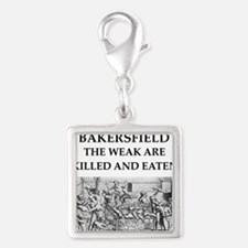 bakersfield Silver Square Charm