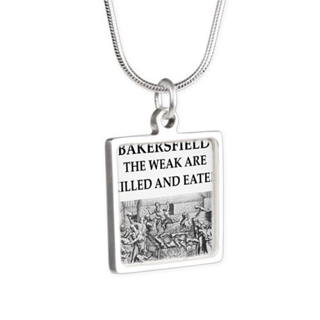 bakersfield Silver Square Necklace