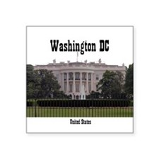 "Washington DC Square Sticker 3"" x 3"""