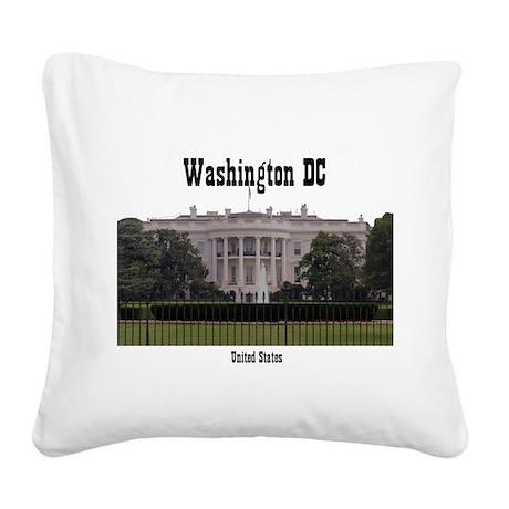 Washington DC Square Canvas Pillow