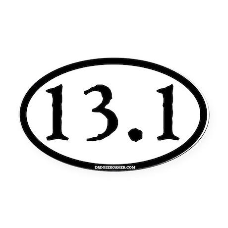 13.1 (Half Marathon) Oval Magnet