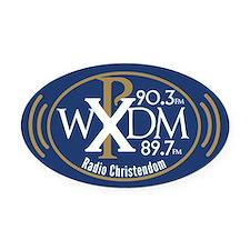 WXDM 90.3 FM Radio Christendom Oval Car Magnet