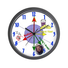 Customizable Kids Tell-Time Wall Clock