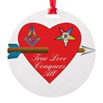 Valentine for the OES and Freemason Round Ornament