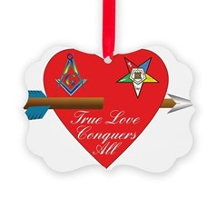 Valentine for the OES and Freemason Ornament