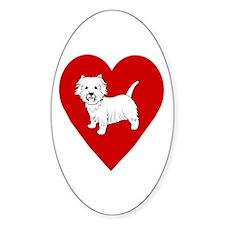 Westie Heart Decal