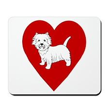 Westie Heart Mousepad
