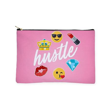Hustle Pink Emojis Makeup Pouch