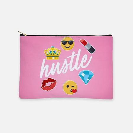 Hustle Pink Emojis Makeup Bag