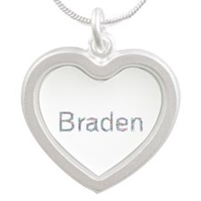 Braden Paperclips Silver Heart Necklace