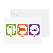Eat Sleep Fly Greeting Cards (Pk of 10)