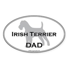 Irish Terrier DAD Oval Decal