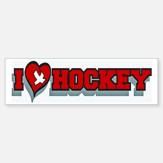 Hockey Bumper Bumper Bumper Bumper Sticker