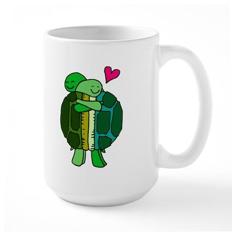 Turtles In Love Large Mug