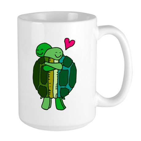 Turtles In Love Large Mug