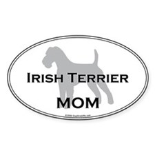Irish Terrier MOM Oval Decal