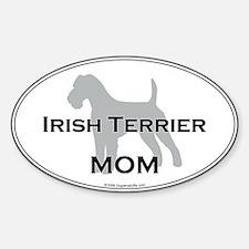 Irish Terrier MOM Oval Decal