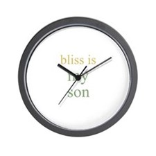 bliss is my son Wall Clock