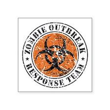 "Zombie Outbreak Response Team 2 Square Sticker 3"""