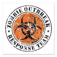 Zombie Outbreak Response Team 2 Square Car Magnet