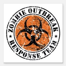 Zombie Outbreak Response Team 2 Square Car Magnet
