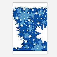 Christmas Moose Postcards (Package of 8)